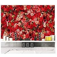 山笑の美 花の壁紙赤いバラの海のテーマバレンタインパーティーのリビングルームの寝室の壁紙壁紙の壁紙3d-200x140CM