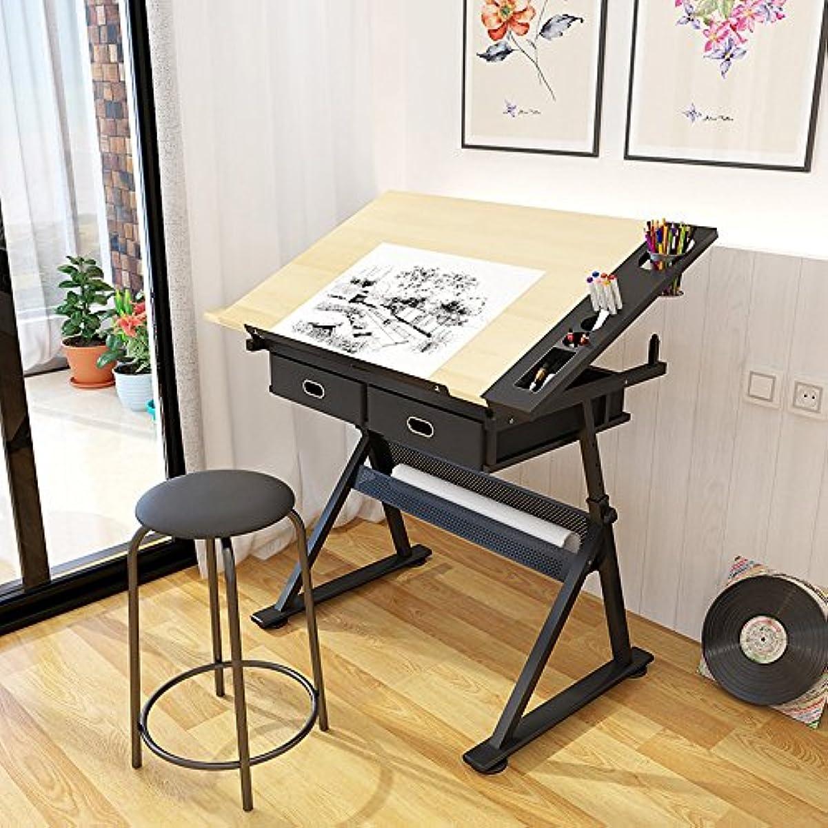 通知するカポック累積LJHA zhuozi 折りたたみテーブル/回転リフトダウン/角度調整/塗装テーブル/ライティングデスク/多機能テーブル
