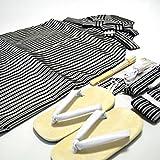 七五三 3歳 5歳 男児 縞 袴 セット男の子 2サイズ2色/L(60cm) 黒