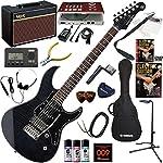YAMAHA エレキギター 初心者 入門 人気のパシフィカ 美しいフレイムメイプルトップ ギターの練習が楽しくなるCDトレーナー(エフェクターも内蔵)と人気のギターアンプVOX Pathfinder10が入った強力21点セット PACIFICA612VIIFM/TBL(トランスルーセントブラック)
