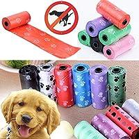 JWBOSS印刷パターン1ロール15袋/袋袋犬のごみ袋ペットの色ランダムランダムカラー -