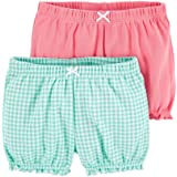Carter's Baby Girls' 2-Pk. Bubble Shorts -Mint Check/Pink