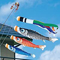 [徳永][鯉のぼり]ベランダ用[ロイヤルセット]格子取付タイプ[1.5m鯉3匹][夢はるか][夢五色吹流し][撥水加工][日本の伝統文化][こいのぼり]