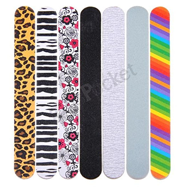 限定千インゲンネイルファイル 7本セット 爪やすり 爪磨き ネイル用品 爪お手入れ用品 スカルプチュア ジェルネイル プロ