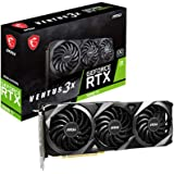 MSI Gaming GeForce RTX 3060 Ti 8GB GDRR6 256-Bit HDMI/DP 1695 MHz Ampere Architecture OC Graphics Card (RTX 3060 Ti VENTUS 3X