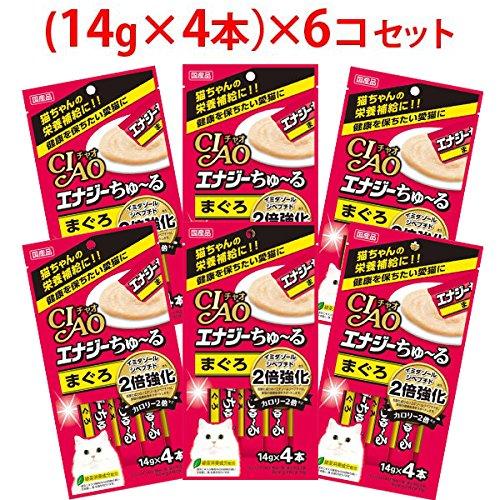 チャオ エナジーちゅ~る まぐろ (14g×4本)×6コ [ちゅーる]