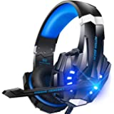BENGOO G9000 Stereo Gaming Headset for PS4, PC, Xbox One Controller, Noise Cancelling Over Ear Headphones with Mic, LED Light