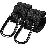 Stroller Hooks Clips for Diaper Bags, 2 Pack Mommy Durable Clips Hooks for Stroller to Hang Bags, Stroller Organizer, Purse (