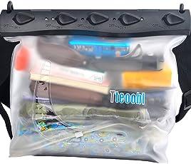 Mercs Tteoobl 防水バッグ 100% 完全防水 Lサイズ ショルダーバッグ 防水保護等級IPX8 海水浴 川遊び プール トラベル アウトドア 防災 必需品