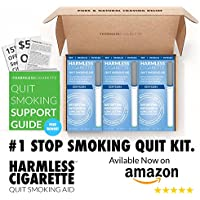 Full 4 Week Quit Smoking Kit Package / Satisfying & Effective Solution To Help Reduce Cravings and Overcome The Urge To Smoke. (3 Pack)