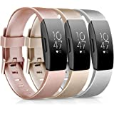 [3 Pack] Soft TPU Bands Compatible with Fitbit Inspire HR/Fitbit Inspire/Fitbit Ace 2 Wristbands Sports Waterproof Wristbands