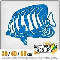 KIWISTAR - Fish Fish Aquarium 15色 - ネオン+クロム! ステッカービニールオートバイ