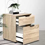 Artiss 2-Drawer Timber File Cabinet, Wood