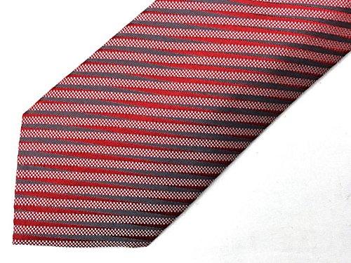 (ジョルジオアルマーニ) GIORGIO ARMANI シルク ネクタイ レッド×シルバー 360054-8P910-00074[並行輸入品]