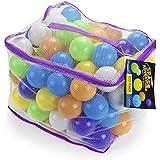 100プレミアムジャンボマルチカラースペースアドベンチャーソフトPit Balls – Includesメッシュケース