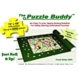 Jigsaw Puzzle Roll Up Felt Mat | Securely Store, Transport Unfinished Puzzles, (Includes Box Stand), Perfect for Grandparents