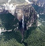 Angel Falls From The Bird Eye Venezuela America Art Poster 41cm X 41cm