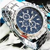 ORIANDO 3 色 クォーツ 腕 時計 メンズ スタイリッシュ スポーティー ビジネス ウォッチ 軽量 (ネイビー)