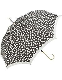 because[ビコーズ] 傘 レディース 雨傘 ジャンプ傘 ハート オブ ファッション雑貨 女性用 ホワイト