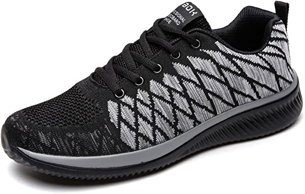 [ZUBOK] スニーカー ランニングシューズ ウォーキングシューズ 運動靴 メンズ レディース クッション性 スポーツシューズ カジュアルシューズ トレーニングシューズ 軽量 通気 日常着用 (22.5cm, ブラック)