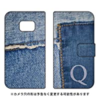Coverfull 手帳型スマートフォンケース フォトデニム イニシャル Q design by ARTWORK / for Galaxy S6 edge SC-04G/docomo  DSC04G-IJTC-401-MCO4