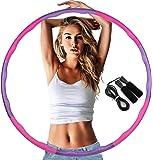 フラフープ エクササイズ用 BangLede【2020年最新版】ダイエット初心者 大人用 子供用 重さ調節 お腹 ダイエット 組み立て式 クッション素材 分割 持ち運び くびれ
