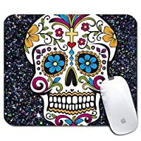 Personalized Rectangle Mouse Pad Printed Skull Pattern Non-Slip Rubber Comfortable Customized Computer Mouse Pad (9.45x7.87inch) [並行輸入品]