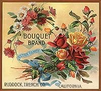 Bouquetブランド–カリフォルニア–Citrusクレートラベル 24 x 36 Giclee Print LANT-57116-24x36