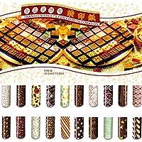 GrainrainカラフルDIYチョコレート転送シートFood装飾用紙( 50個/セット)