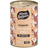 Honest to Goodness Organic Four Bean Mix - BPA Free (Cooked), 400g