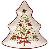 Villeroy & Boch Bowl, Porcelain, Multi-Colour, 17 x 0.1 x 0.1 cm, Christmas Theme, Tree (Small)