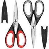 Kitchen Shears, iBayam 2-Pack Kitchen Scissors Heavy Duty Meat Scissors, Dishwasher Safe Cooking Scissors, Multipurpose Stain