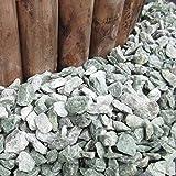 天然石 砕石砂利 1-2cm 30kg アイスグリーン (ガーデニングに最適 緑色砂利)