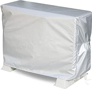 アストロ エアコン室外機カバー 室内機用 シルバー 撥水加工 スリット・ひも付き 113-09
