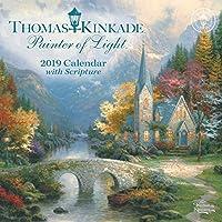 Thomas Kinkade Painter of Light with Scripture 2019 Mini Wall Calendar