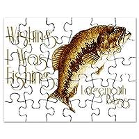 CafePress–wishingiwasfishing–ジグソーパズル、30個。
