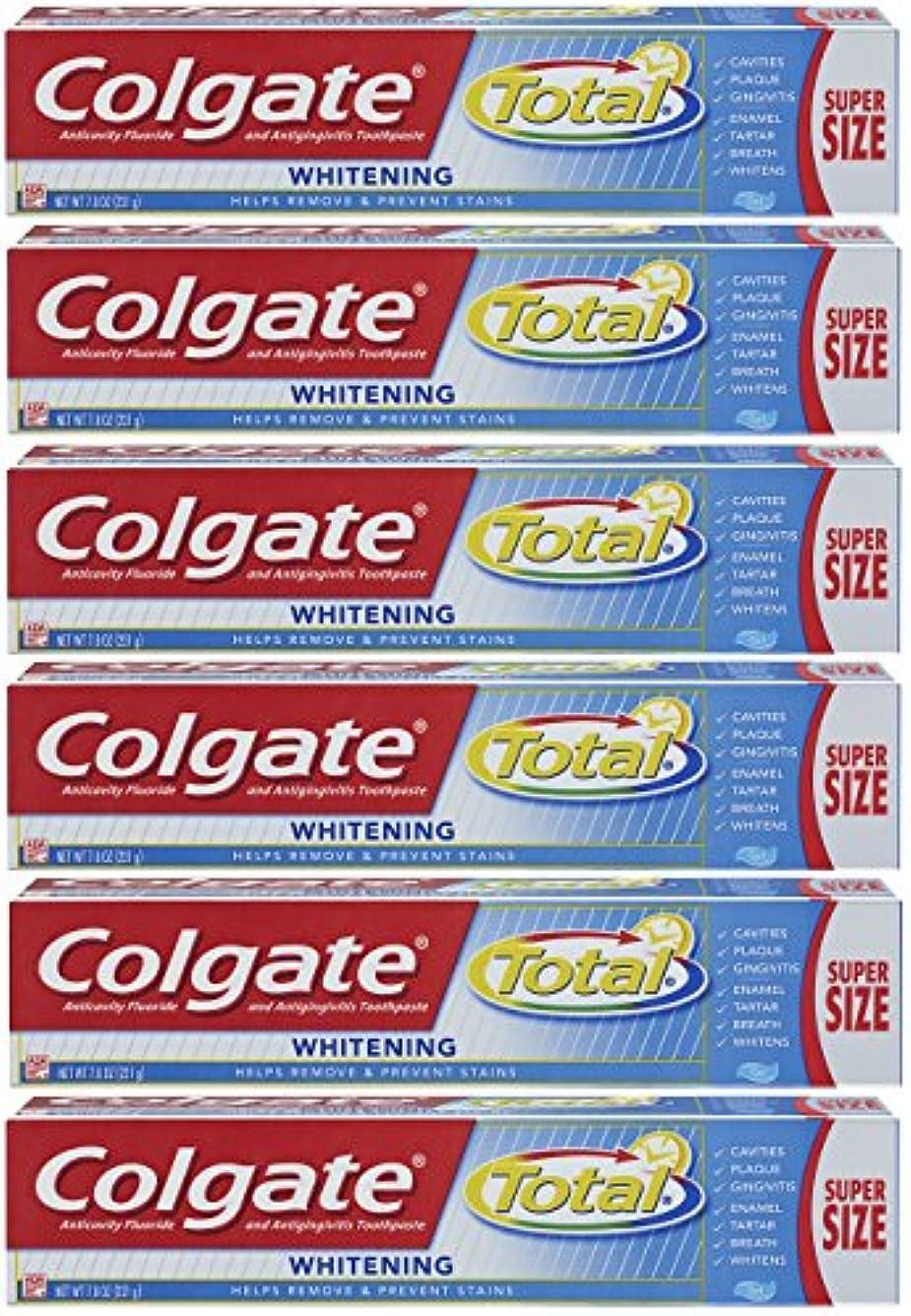 Colgate トータルホワイトニングジェル歯磨き - 7.8オンス(6パック)