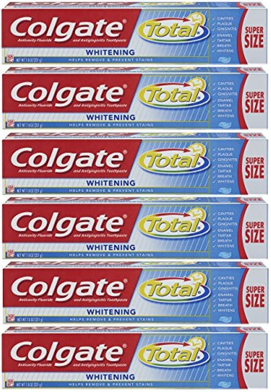 破壊的操作可能上院Colgate トータルホワイトニングジェル歯磨き - 7.8オンス(6パック)