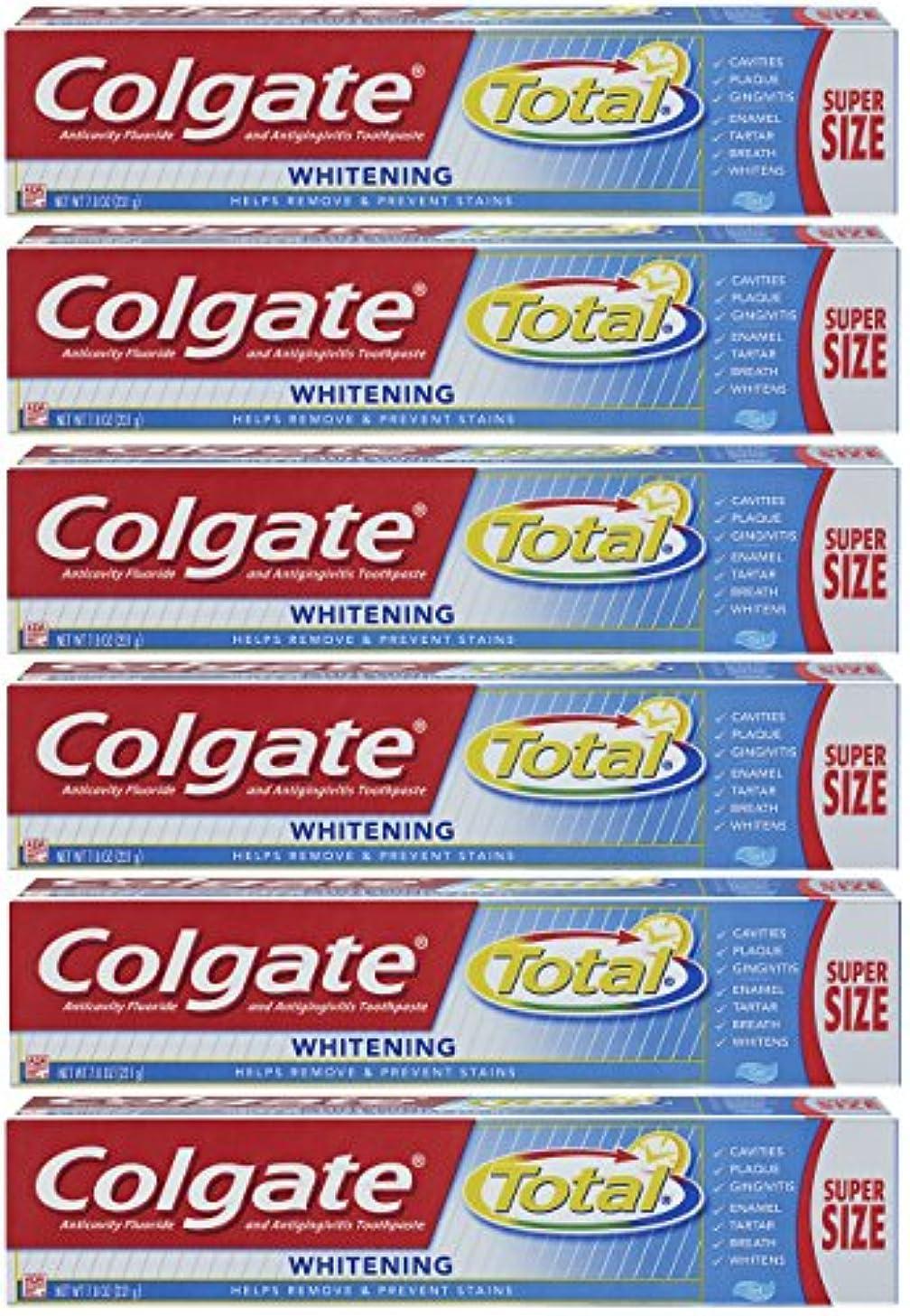 タウポ湖ミント目指すColgate トータルホワイトニングジェル歯磨き - 7.8オンス(6パック)