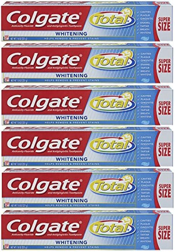 スピン資格情報生き残りColgate トータルホワイトニングジェル歯磨き - 7.8オンス(6パック)