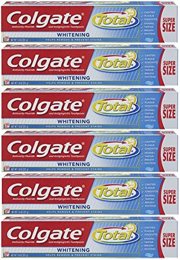 プレミアム王族天気Colgate トータルホワイトニングジェル歯磨き - 7.8オンス(6パック)