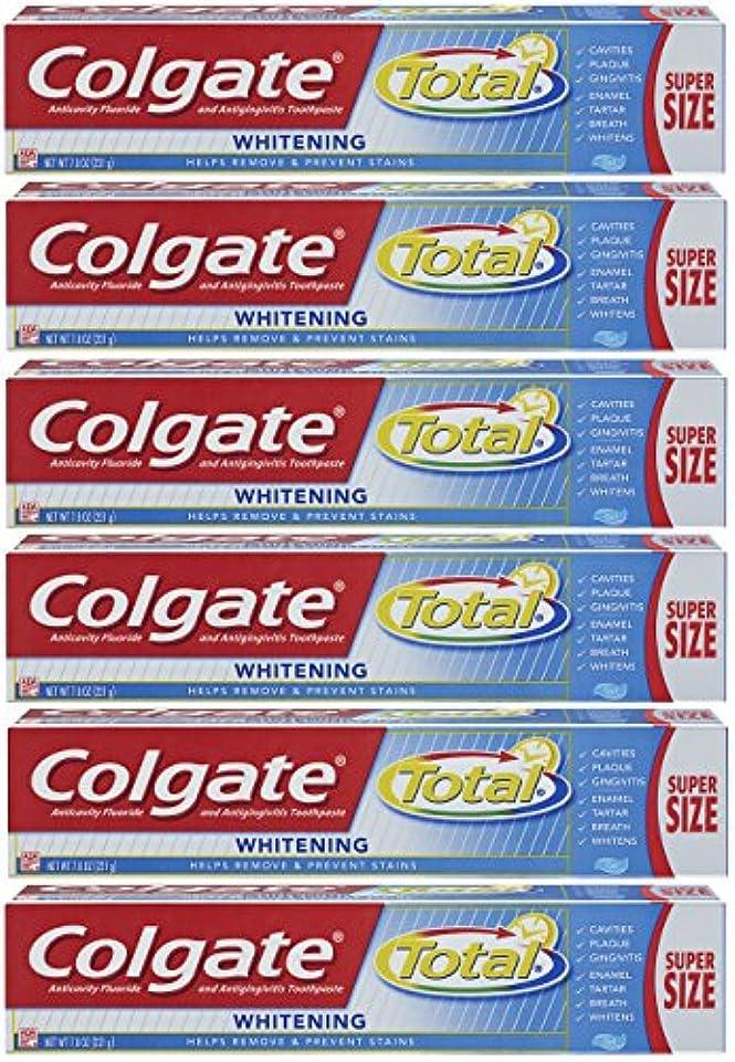 祖母ラウンジテナントColgate トータルホワイトニングジェル歯磨き - 7.8オンス(6パック)