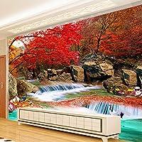 Xbwy 中国風の3D壁画壁画壁紙自然の風景Xiangshan赤い葉クレーン写真の壁紙壁画3D部屋の風景-200X140Cm