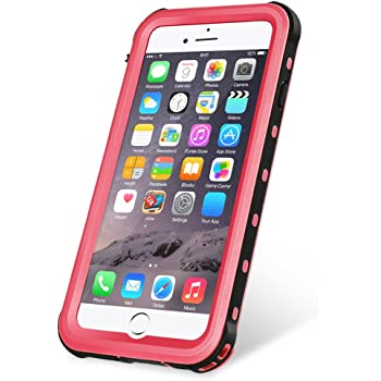 31284e9f6d KYOKA iPhone8 ケース iPhone7ケース 防水ケース 指紋認証対応 防水 防塵 耐震 耐衝撃 IP68 アイフォン8 / 7ケース  防水カバー (iPhone8/7, ピンク)