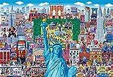 ビバリー 1000マイクロピース ジグソーパズル ニューヨーク名所大集合(26×38㎝)M81-623 水色
