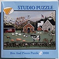BITS AND PIECES 1000 PIECE STUDIO JIGSAW PUZZLE MARIANNE STILLWAGON OLD FASHIONED FARM