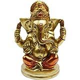 Hindu God Statue Ganesh Figurine India Buddha Ganesha Wedding Diwali Gifts Puja Product Home Decors, Polyresin, Antique Coppe
