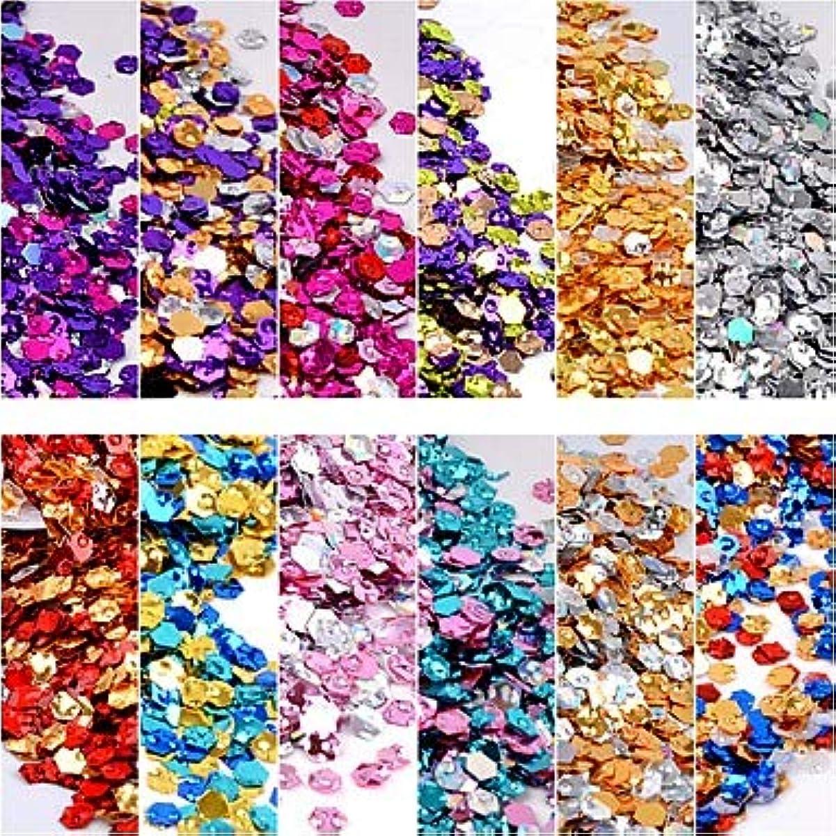 満員手数料例示する12ピース変色スリムデザインプラスチックスパンコール指ネイルロマンチックシリーズネイルアートマニキュアペディキュア毎日