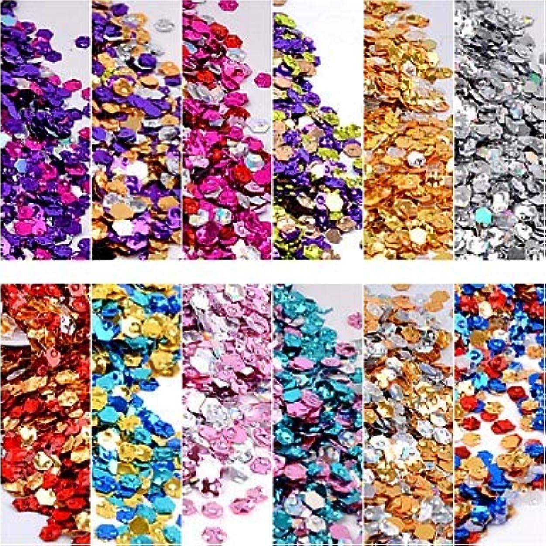 変数気絶させる組立12ピース変色スリムデザインプラスチックスパンコール指ネイルロマンチックシリーズネイルアートマニキュアペディキュア毎日