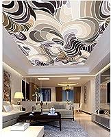 Weaeo 壁紙の壁画の写真の壁紙天井アニマルプリントパターンの天井壁装飾 3 D 壁画 -200 × 140 Cm